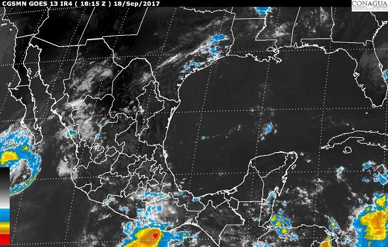 Debido a la tormenta tropical Norma, se pronostican vientos mayores a 50 km/h y oleaje de 1 a 2 m en el sur y la costa occidental de Baja California Sur