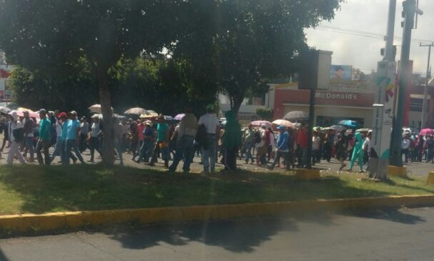 """Como se recordará, la """"movilización masiva estatal"""" prevé que partirán contingentes desde los cuatro puntos cardinales de Morelia hacia Palacio de Gobierno"""