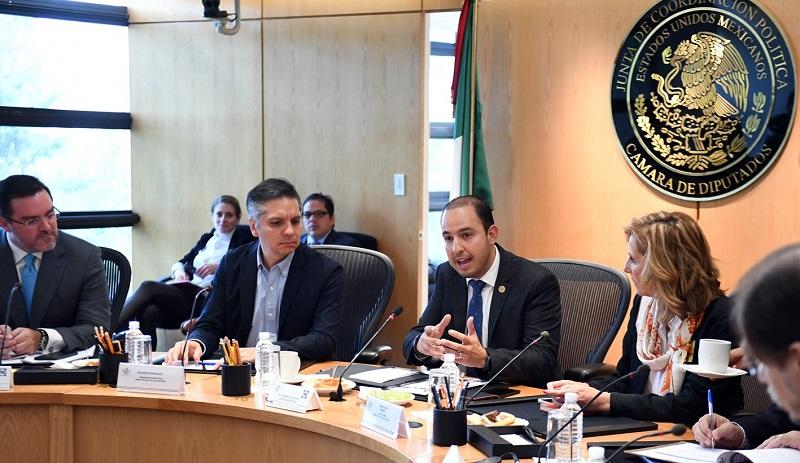 El presidente de la Jucopo, Marko Cortés, informó que el próximo miércoles buscarán lograr un acuerdo en la Conferencia para la Dirección y Programación de los Trabajos Legislativos, para incorporar las inquietudes de la sociedad civil en temas como la elección del Fiscal General de la Nación