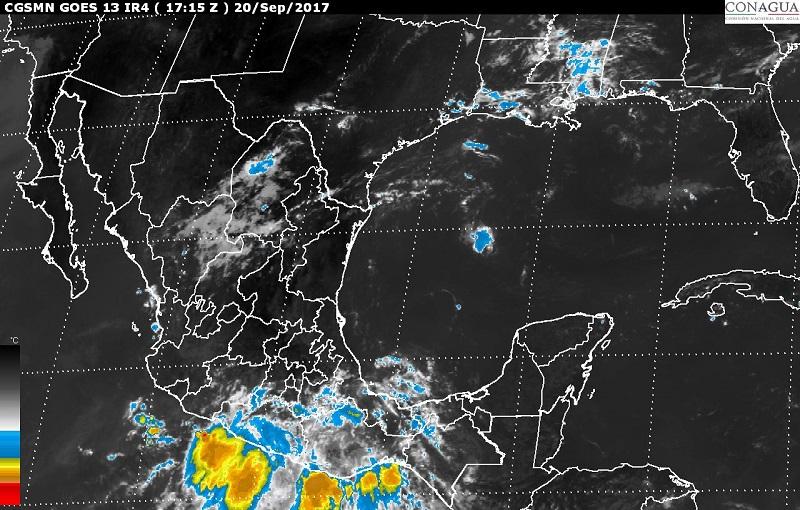En las costas de Jalisco, Colima, Oaxaca y Chiapas se prevén rachas de viento mayores a 50 km/h.