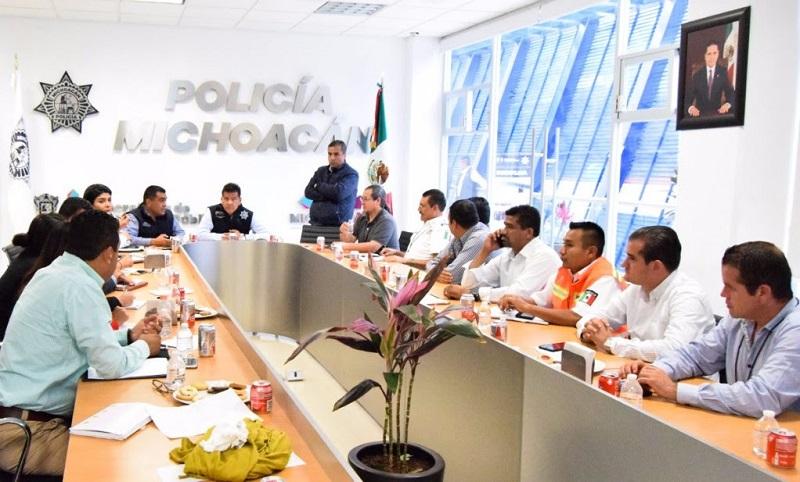 Durante estas actividades se blindará el primer cuadro de la capital michoacana y se trabaja para emplear rutas ciclistas y peatonales, cortes a la circulación, y brindar primeros auxilios con ambulancias y patrullas