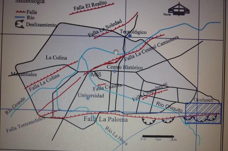 Un claro ejemplo está en el Palacio de Justicia que se ubica sobre la Calzada la Huerta, el cual desde el año 2014 fue alertado por investigadores de la UMSNH de que estaba asentado en una zona de inestabilidad