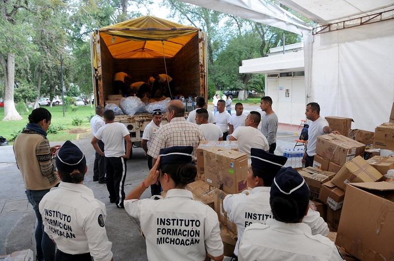 40 toneladas para la Ciudad de México, 32 toneladas para Morelos, 17 toneladas para Puebla, 48 toneladas para Oaxaca y 35 toneladas para Chiapas
