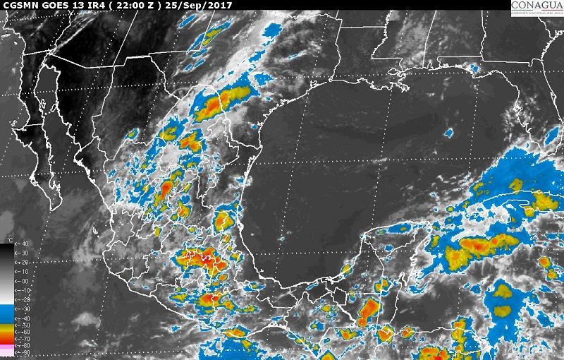 Se pronostican fuertes rachas de viento y oleaje de 1 a 2 metros en las costas de Sinaloa, Nayarit, Jalisco, Oaxaca y Chiapas