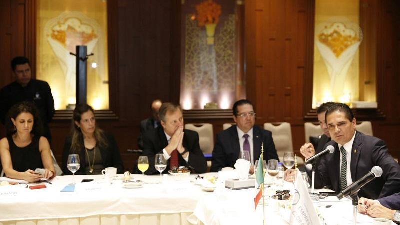 El gobernador de Michoacán asiste a la sesión ordinaria del Consejo Ejecutivo de Empresas Globales