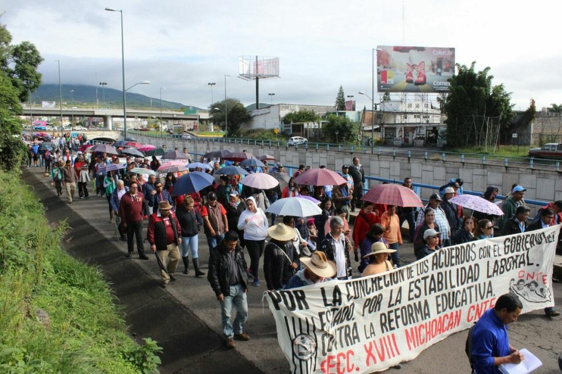 CNTE marcha este día en Morelia en apoyo a normalistas