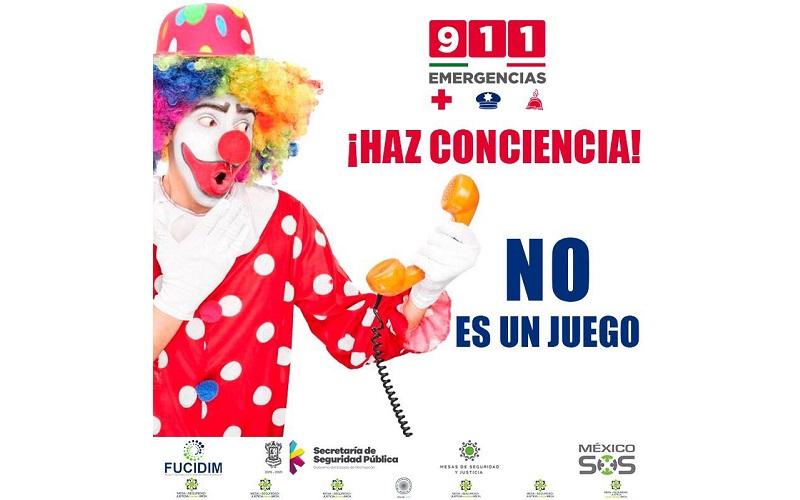 Michoacán tiene el registro de que más del 90 por ciento de las un millón 824 mil 111 llamadas que son reportadas como emergencia, son improcedentes, es decir, falsas