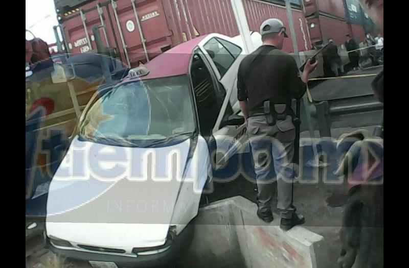 Aproximadamente a las 14:00 horas reportaron a los servicios de emergencia que el tren había impactado un vehículo sobre la Avenida Michoacán a un costado de la Gasolinera, por lo que se trasladaron los servicios de emergencia