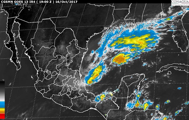 Se prevé evento de Norte con vientos de 35 a 45 kilómetros por hora (km/h) y rachas superiores a 80 km/h en el litoral de Tamaulipas, Veracruz, Tabasco, el Istmo y el Golfo de Tehuantepec