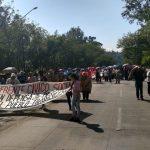 A su paso, los manifestantes provocaron severo caos vial en el sur y Centro Histórico de la ciudad de Morelia