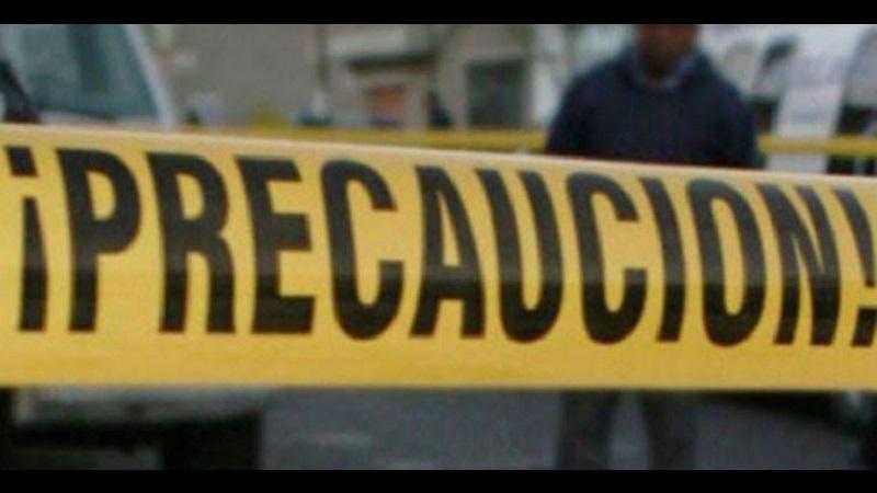 Los elementos policíacos aseguraron la zona en espera del arribo de la Unidad Especializada en la Escena del Crimen