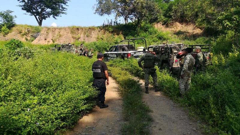 Las plantas del enervante fueron cortadas e incineradas por los elementos, que continúan las labores de vigilancia con el objetivo de persuadir conductas delictivas e inhibir el asentamiento de células delincuenciales en territorio michoacano