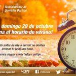 Para los 33 municipios de la franja fronteriza del norte del país, el Horario de Verano termina el próximo domingo 5 de noviembre