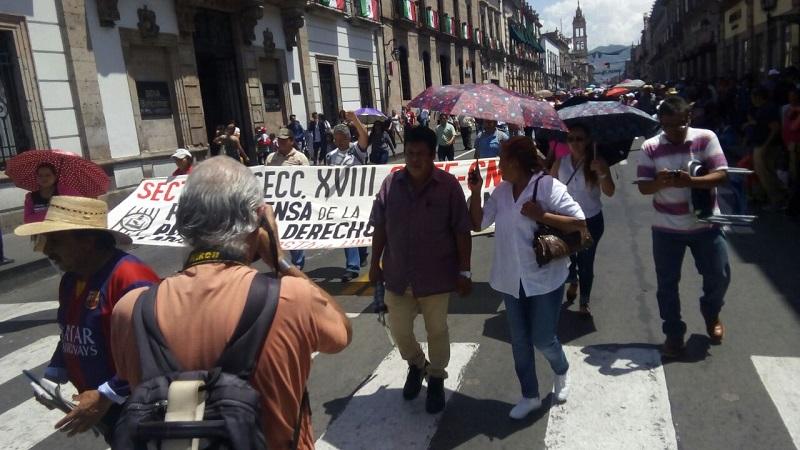La concentración está prevista para las 9:00 horas y la movilización partirá desde los cuatro puntos cardinales hacia el Centro Histórico de Morelia, donde se llevará a cabo un mitin