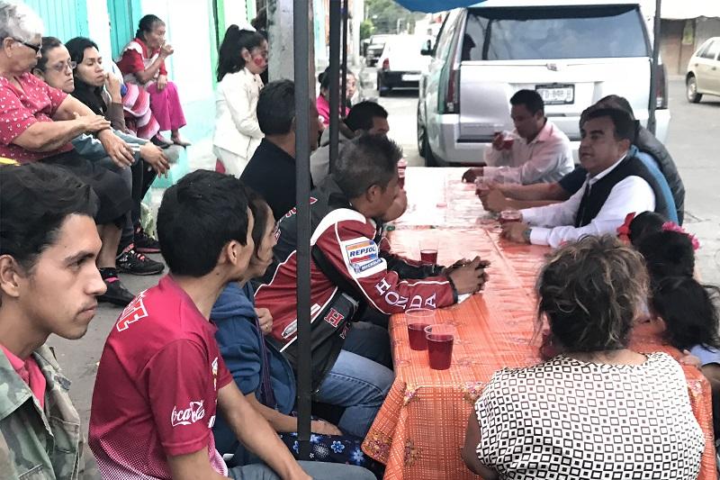 Ortiz García acudió como invitado por empresarios y trabajadores de banquetes