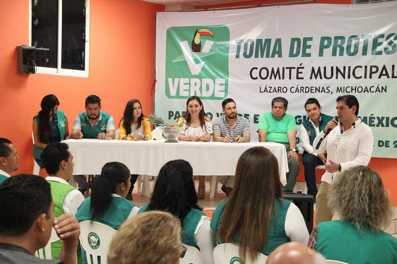El dirigente estatal del PVEM habló sobre el trabajo que habrán de realizar en el municipio, confiado en que podrán lograr buenos resultados al tener todo el respaldo de la dirigencia estatal