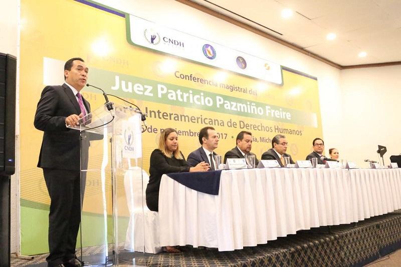 Michoacán fue sede del Foro Regional rumbo al Examen Periódico Universal de Derechos Humanos de las Nacionales Unidas y en próximas semanas albergará el Seminario Regional de Derechos Humanos a la luz de los principios constitucionales