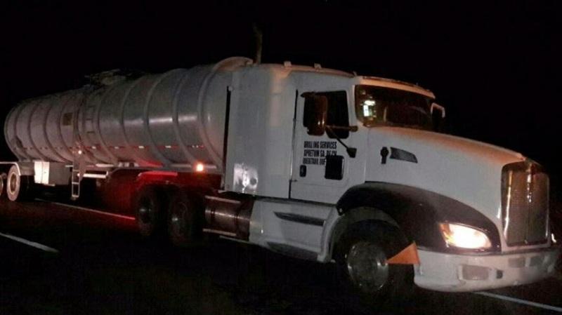 La unidad y el combustible serán puestos a disposición de la autoridad competente