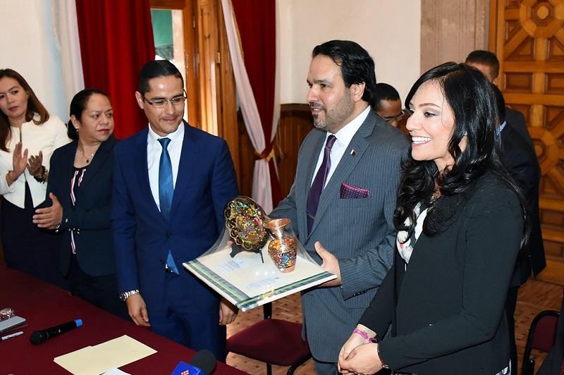 En su intervención el Embajador Ahmed Bin Adbulla Ahmed Ali Al-Kuwari, envió un mensaje de solidaridad y condolencias por las víctimas del terremoto que azotó a diversos estados en el mes de septiembre
