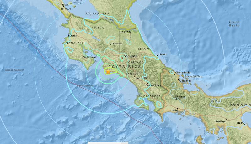 """""""No tenemos ningún reporte de alguna situación que lamentar producto del reciente sismo"""", dijo la Cruz Roja de Costa Rica en un mensaje a través de sus redes sociales"""