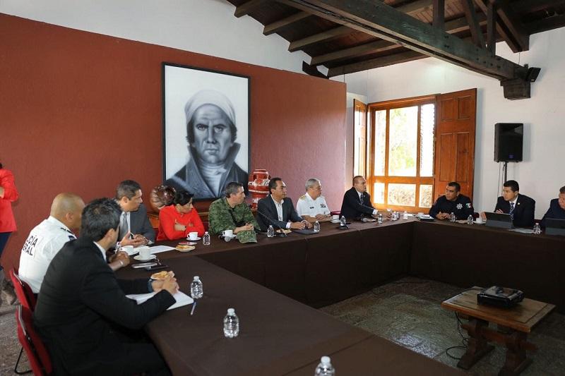 Prioridad del Gobierno del Estado y del Grupo de Coordinación Michoacán, cerrar el paso a los grupos delictivos que atenten contra la estabilidad social de la entidad