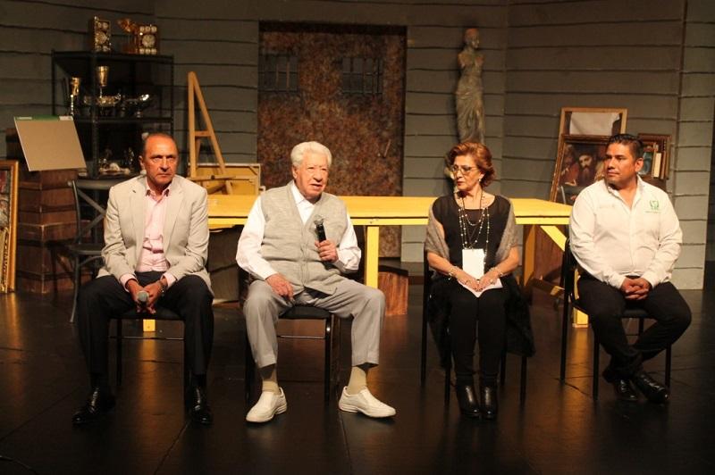 Durante el evento, se hizo especial mención a Don Ignacio López Tarso por ser una figura representativa de los teatros del IMSS, extendiéndole especial agradecimiento por participar nuevamente en otra obra del Instituto