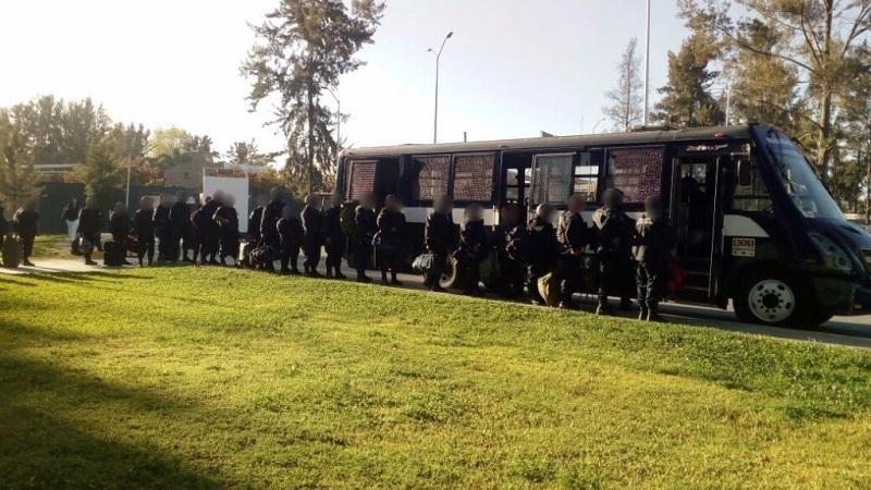 """""""Los policías cuentan con la preparación y capacitación necesaria para su operación; todos ellos están listos para reforzar la seguridad en la zona"""", destacó Gómez Arrieta"""