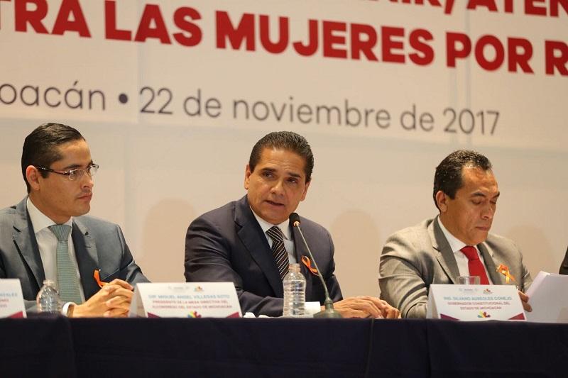 La entidad se suma a la campaña de la ONU contra la violencia de género, que este 2017 se llevará a cabo durante 16 días, del 25 de noviembre al 10 de diciembre, anuncia el secretario de Gobierno, Adrián López Solís