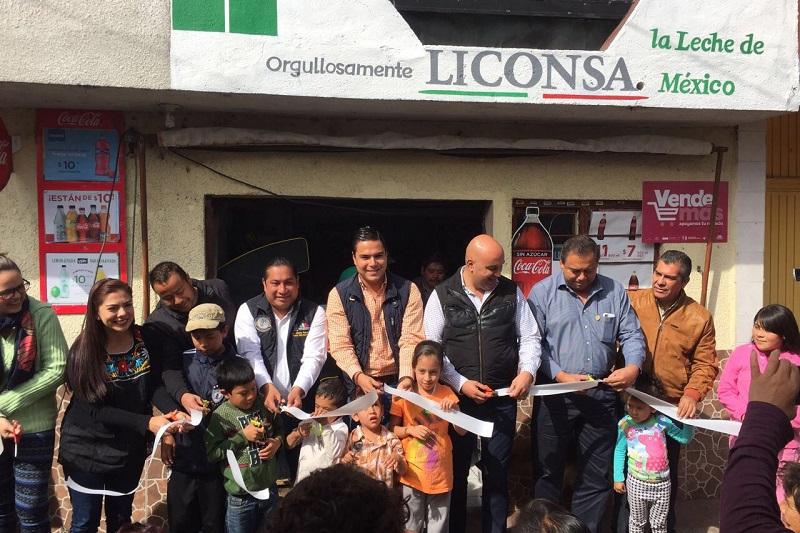 La lechería inaugurada fue en la localidad de Cantabria, perteneciente al municipio de Zacapu y beneficiará a un total de 400 habitantes de esa comunidad y zonas aledañas a ella