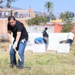 Este sábado se realizó el rescate de un espacio público abandonado en el Parque Lineal Bicentenario, ubicado en el Fraccionamiento Reforma de Morelia