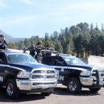 La Policía Michoacán vigila los bosques del Santuario El Rosario para velar por la seguridad de la zona y evitar delitos contra el medio ambiente; también se brinda apoyo turístico a los visitantes a este lugar