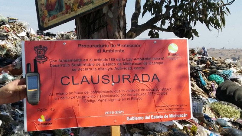 Para que el basurero reanude actividades, se deberá presentar la documentación requerida y pagar una sanción económica