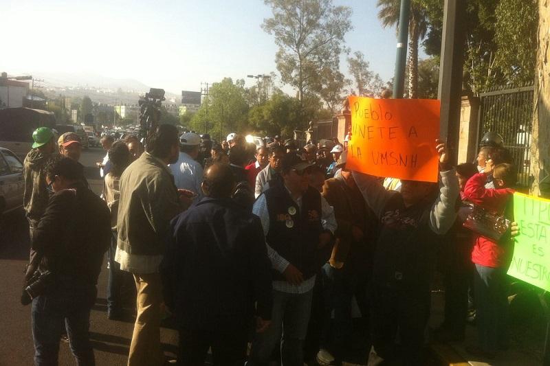 La manifestación comenzó a las 9:00 horas y culminó hasta pasadas las 14:00 horas