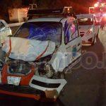 Del severo impacto resultó lesionado el conductor Orlando B., de 41 años de edad, con domicilio en la colonia el Aserradero de la tenencia de Guacamayas