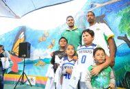 En un ambiente de alegría y diversión, los integrantes de la quinteta michoacana convivieron con las y los menores a través de dinámicas donde se puso a prueba la destreza, rapidez y trabajo en equipo