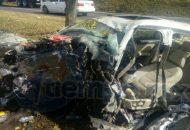Personal de la Policía Federal fueron los encargados de realizar el peritaje del accidente y retirar la unidad siniestrada a un corralón oficial