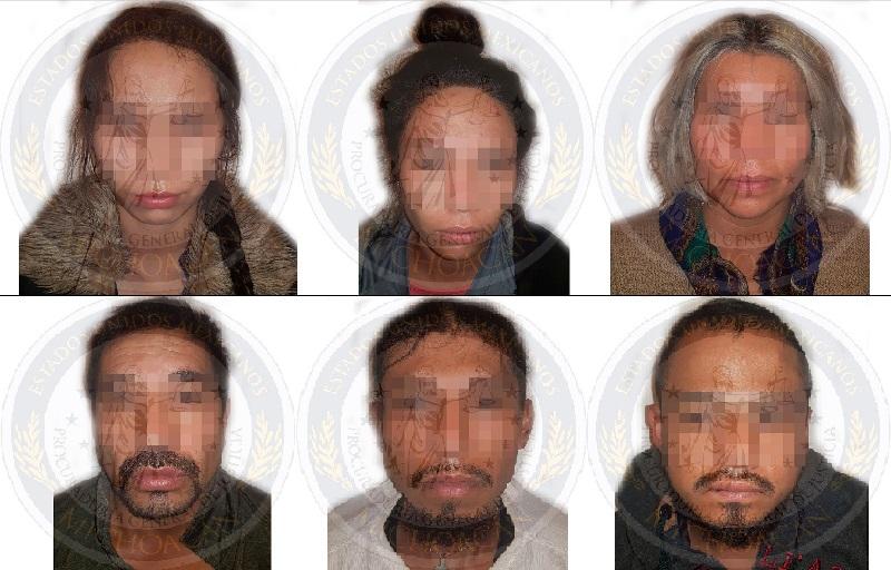 Los imputados fueron presentados ante el agente del Ministerio Público de la UECS a efecto de que sea resuelta su situación jurídica por su relación en el delito de secuestro.