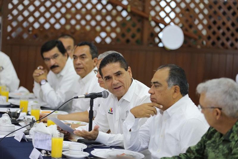 El mandatario michoacano destacó que uno de los ejes fundamentales para generar mayor certeza entre la población es la seguridad