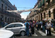Finalmente a las dos de la tarde, todos los grupos se retiraron de la arteria y dejaron libre la circulación de la antigua Calle Real, por lo que la circulación comenzó a restablecerse en ambos sentidos