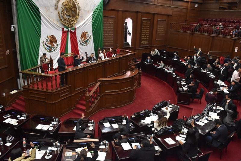 Aprueba Congreso de Michoacán 55 leyes de ingresos municipales