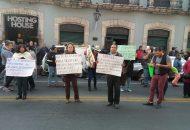 Cabe mencionar que por acuerdo de la dirigencia del SPUM, fue obligatoria para todos los miembros del Sindicato la asistencia a esta manifestación