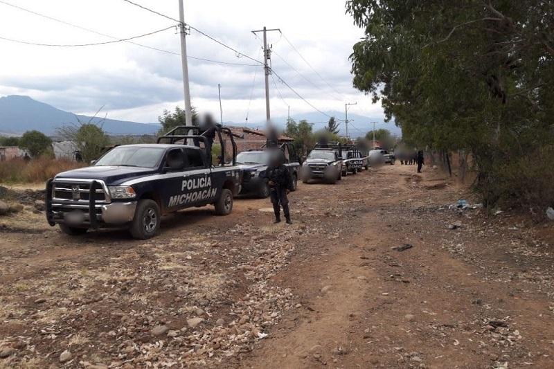 Los detenidos, las armas y los vehículos serán puestos a disposición de la autoridad competente