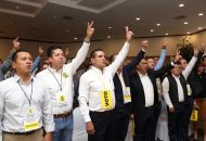 En el marco del X Consejo Estatal del Sol Azteca, Martín García Avilés y Manuel López Meléndez asumieron la presidencia y la secretaría general del Comité Ejecutivo Estatal del partido
