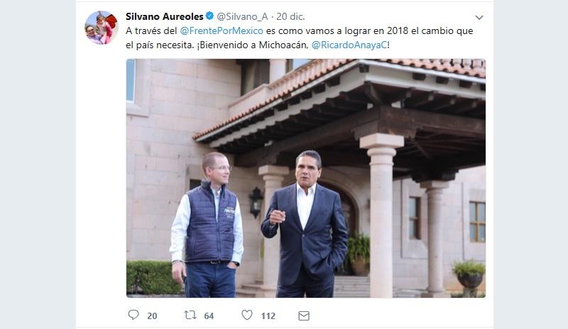 """""""Él como titular del Ejecutivo debería de ser el primero en poner el ejemplo y respetar a los michoacanos"""", señala el PRI mediante un comunicado de prensa"""