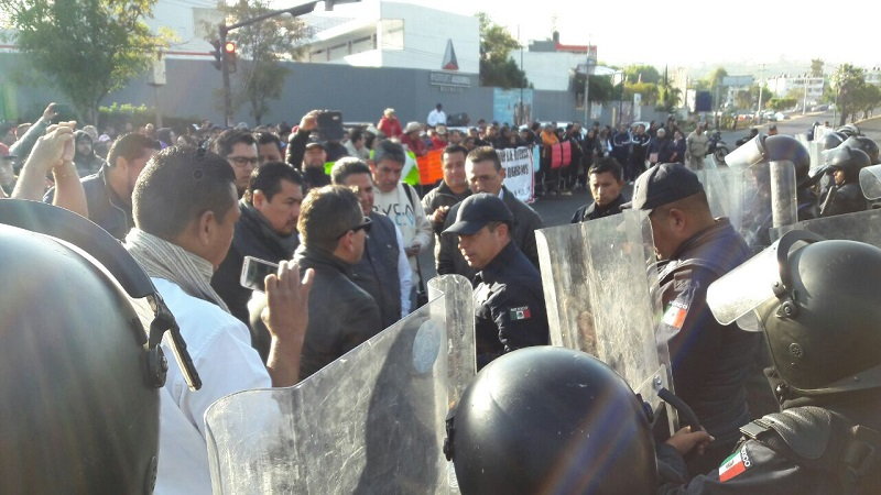 Se agudizan las protestas por falta de pagos en la ciudad de Morelia