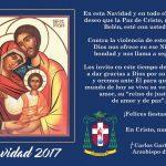 Dejemos que el Niñito Jesús nos regale el perdón y la reconciliación y hagamos de esta Navidad el tiempo propicio para iniciar un proceso de perdón y reconciliación en nosotros mismos y con los demás