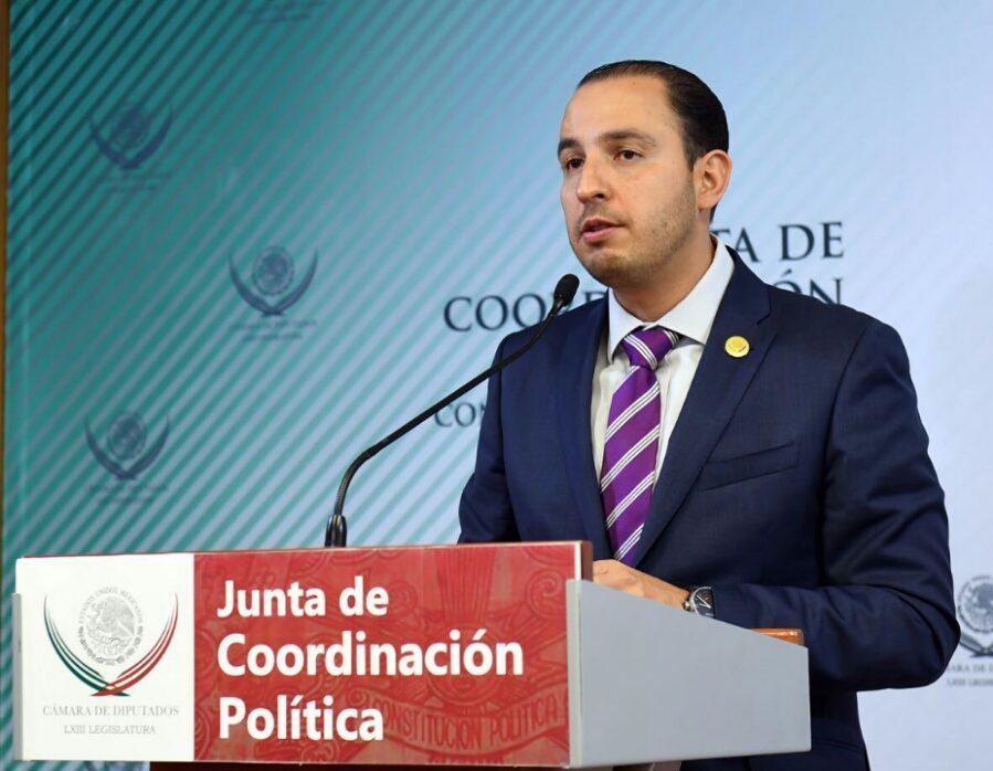 Marko Cortés, presidente de la Junta de Coordinación Política en la Cámara de Diputados