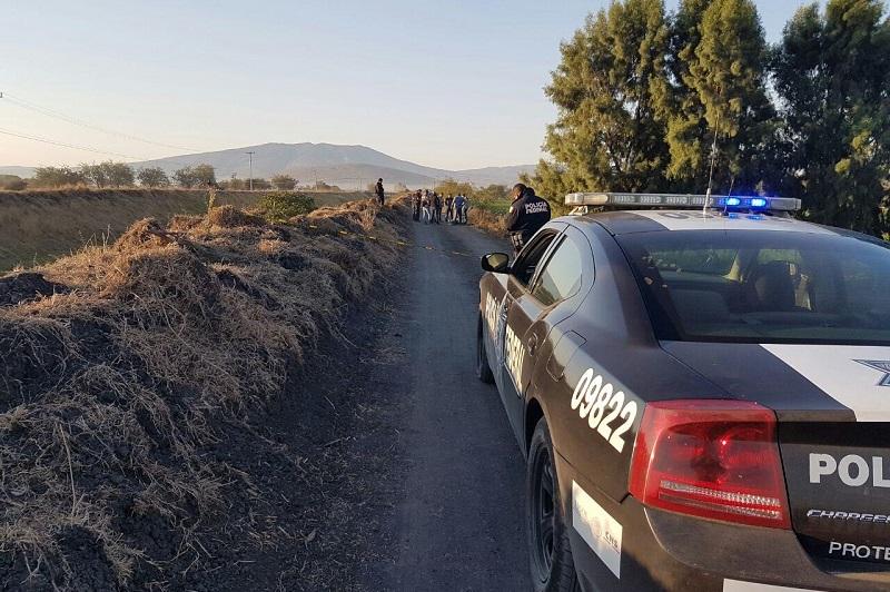 Inmediatamente dieron a aviso a la base de la Policía Michoacán, arribando ven cuestión de minutos elementos y confirmando la información, por lo que quedó resguardado el lugar