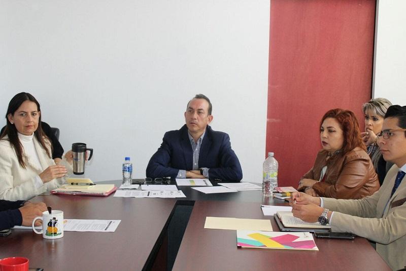 El funcionario se reunió con parte del equipo de trabajo, con quienes definió algunas de las líneas prioritarias que se estarán poniendo en marcha en toda la geografía michoacana