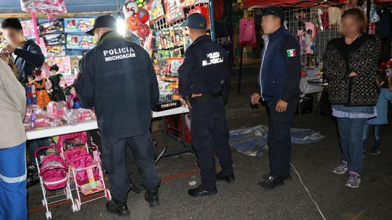 El despliegue de 270 elementos de la Policía Michoacán instruido por el titular de la SSP, Juan Bernardo Corona, tiene la finalidad de garantizar la seguridad de comerciantes y consumidores